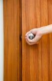 öppning för dörrknopp royaltyfria foton