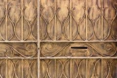 öppning för metall för post för bakgrundsaskdörr Arkivbild
