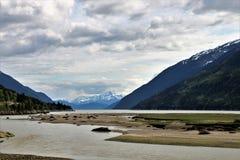 Öppning till Dyea, Alaska fotografering för bildbyråer