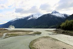 Öppning till Skagway, Alaska arkivbild