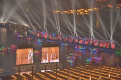 Öppningscermoni Guangzhou Kina för 2010 asiatiska spelen arkivbild