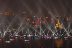 Öppningscermoni Guangzhou Kina för 2010 asiatiska spelen royaltyfria bilder