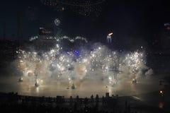 Öppningscermonin för 2018 vinterOS:er Arkivbild