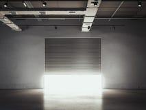Öppningsdörr till garaget Lagringslätthet framförande 3d Arkivfoton