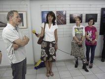 Öppningsutställning av fotogrupp` f 5 6 `, Arkivbild