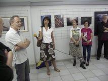 Öppningsutställning av fotogrupp` f 5 6 `, Royaltyfri Fotografi
