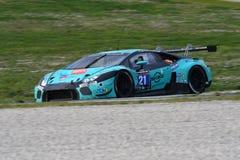 12 öre Hankook Mugello le 18 mars 2017 : #21 Konrad Motorsport, Lamborghini Huracan GT3 images libres de droits
