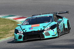 12 öre Hankook Mugello le 18 mars 2017 : #21 Konrad Motorsport, Lamborghini Huracan GT3 photos stock