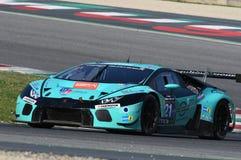 12 öre Hankook Mugello le 18 mars 2017 : #21 Konrad Motorsport, Lamborghini Huracan GT3 photos libres de droits