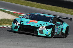 12 öre Hankook Mugello le 18 mars 2017 : #21 Konrad Motorsport, Lamborghini Huracan GT3 photo stock