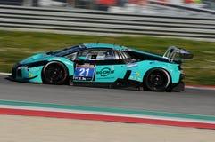 12 öre Hankook Mugello le 18 mars 2017 : #21 Konrad Motorsport, Lamborghini Huracan GT3 photo libre de droits