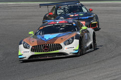 12 öre Hankook Mugello le 18 mars 2017 : #30 Ram Racing, Mercedes AMG GT3 Photos libres de droits