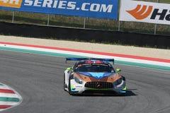 12 öre Hankook Mugello le 18 mars 2017 : #30 Ram Racing, Mercedes AMG GT3 Image stock