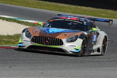 12 öre Hankook Mugello le 18 mars 2017 : #30 Ram Racing, Mercedes AMG GT3 Photographie stock