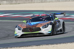 12 öre Hankook Mugello le 18 mars 2017 : #30 Ram Racing, Mercedes AMG GT3 Photographie stock libre de droits