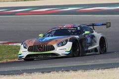12 öre Hankook Mugello le 18 mars 2017 : #30 Ram Racing, Mercedes AMG GT3 Image libre de droits
