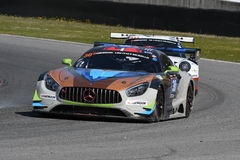 12 öre Hankook Mugello le 18 mars 2017 : #30 Ram Racing, Mercedes AMG GT3 Photo libre de droits