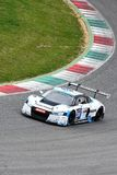 12 öre Hankook Mugello le 18 mars 2017 : Sport mécanique de collection de la voiture #34, Audi R8 LMS Image libre de droits
