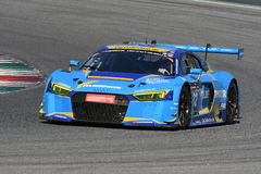 12 öre Hankook Mugello le 18 mars 2017 : Sport mécanique de collection de la voiture #34, Audi R8 LMS Images libres de droits