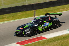 12 öre Hankook Mugello 18 marzo 2017: #38 ms Racing, Mercedes AMG GT3 Immagine Stock