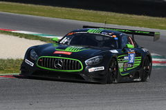 12 öre Hankook Mugello 18 marzo 2017: #38 ms Racing, Mercedes AMG GT3 Immagini Stock