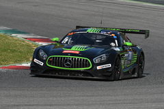 12 öre Hankook Mugello 18 marzo 2017: #38 ms Racing, Mercedes AMG GT3 Fotografie Stock