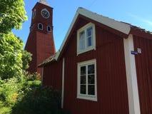 Öregrund church tower. The old Bell tower of Öregrund on Sweden Stock Photo