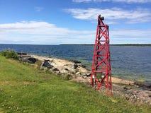 Öregrund. Sea beacon at Öregrund, Sweden Stock Photo