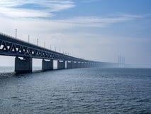Öresund Bridge between Copenhagen and Malmö, Sweden, Europe. Öresund Bridge between Copenhagen and Malmö, world`s longest cable-stayed bridge royalty free stock image