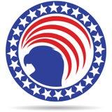 Örn för stjärna för USA-flaggasymbol stock illustrationer