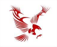 örn falk Stiliserade stora röda Eagle vektor illustrationer