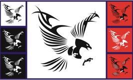 örn Flyg Eagles med de stiliserade vingarna vektor illustrationer