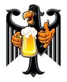 Örn med öl royaltyfri illustrationer