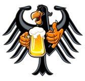 Örn med öl vektor illustrationer