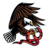 Örn och orm royaltyfri illustrationer