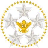 Örn och stjärnor royaltyfri illustrationer