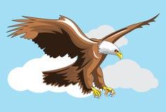 Örn på skyen vektor illustrationer