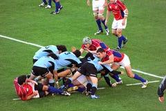 örnar spelar rugby uruguay USA vs Royaltyfria Bilder