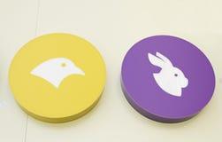 Örn och kanin Royaltyfri Fotografi