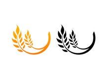 Öron av vete, symboler royaltyfri illustrationer