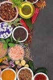 Ört- och kryddaabstrakt begreppgräns arkivfoton