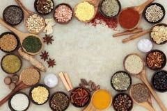 Ört- och kryddaabstrakt begreppgräns royaltyfri fotografi