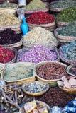 Ört- och kryddasouks av Marrakesh Fotografering för Bildbyråer