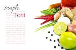 Ört och kryddig ingrediensmat arkivbild
