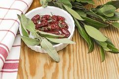 Örtar och chili Royaltyfri Fotografi