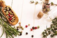 Örtar och kryddor Fotografering för Bildbyråer