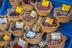 Örter och kryddor på marknaden, Tunis royaltyfri bild