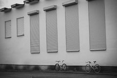 Örtlich festgelegte Gangfahrräder Stockbilder