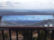 Öst av Mt mitchell Arkivbilder