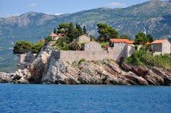 östefan sveti Montenegro Royaltyfri Fotografi
